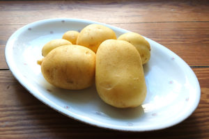 Projekt Stadtgarten Kartoffelernte aus der Maurertonne