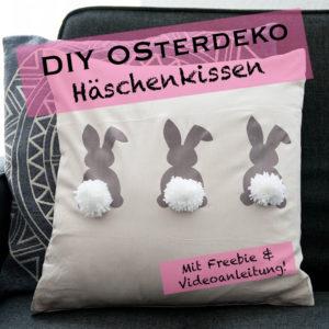 Häschenkissen DIY mit Anleitung - ohne Nähen! www.chaosmitstil.de