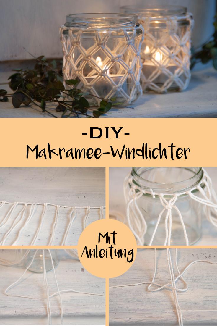 DIY Makramee-Windlichter - mit Schritt-fürSchritt-Anleitung - www.chaosmitistl.de
