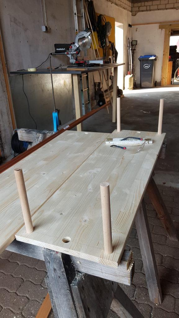 Kleiderständer aus Kupferrohr selber bauen - Unterkonstruktion, Regal