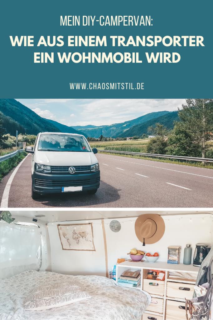 Pinterest-Pin: DIY Campervan - Busausbau -Chaosmitstil.de